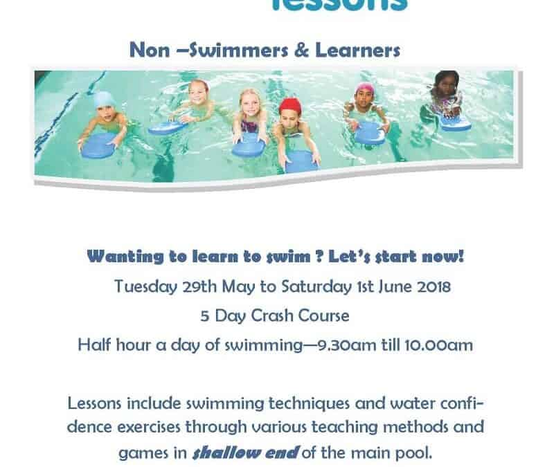 Crash Course Swimming Lessons this May